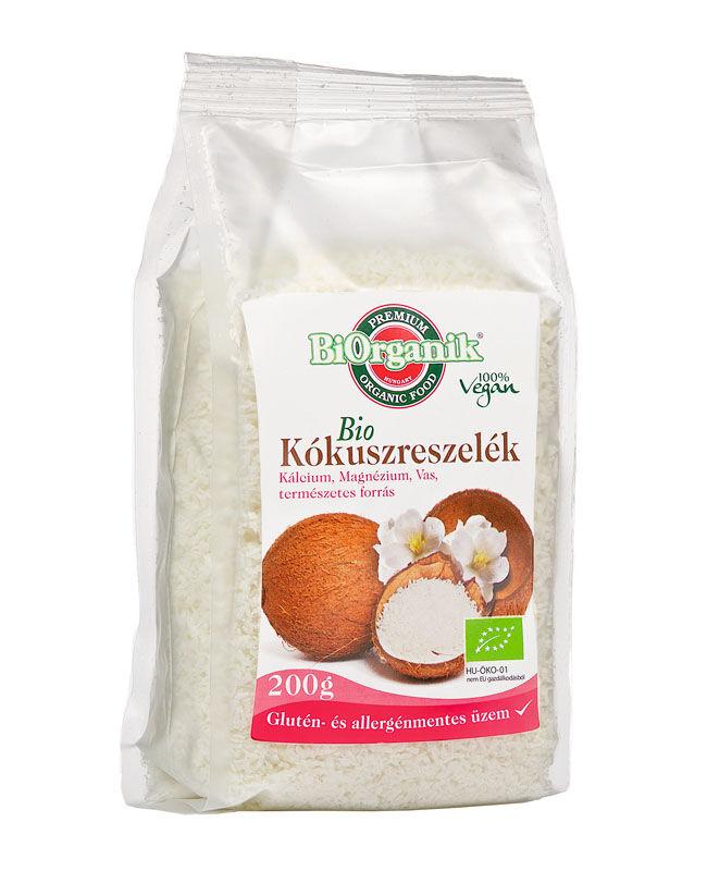 Biorganik bio kókuszreszelék 200 g