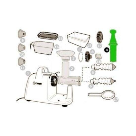 Betoló rúd Lexen elektromos búzafűpréshez (4)