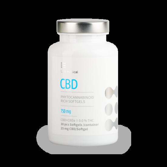 CBD drazsé 750mg - CBD+CBDa / 0.0% THC
