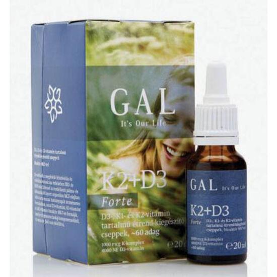 Gal k2+d3-vitamin forte cseppek