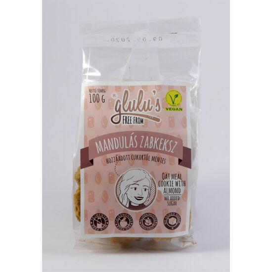 Glulu freefrom mandulás keksz cukormentes, gluténmentes