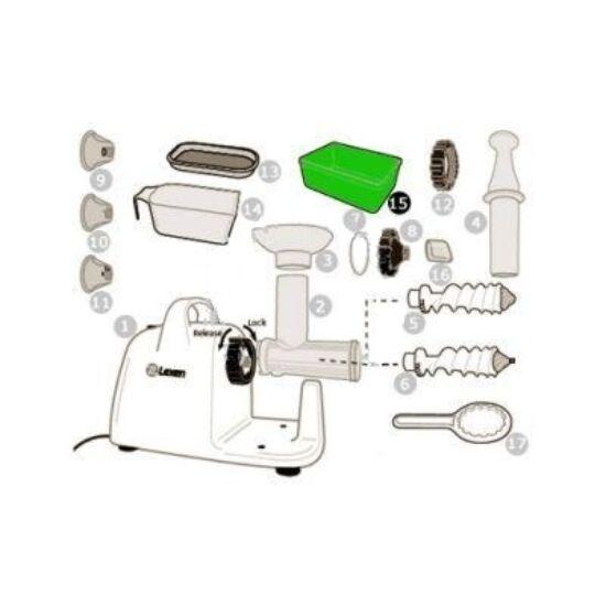 Hulladékgyűjtő pohár Lexen elektromos búzafűpréshez (15)
