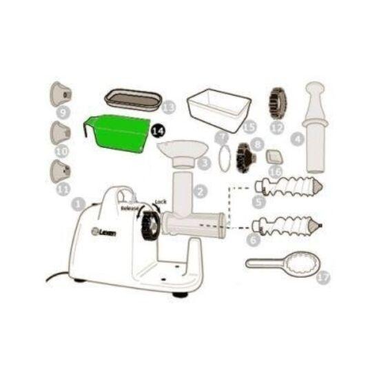 Légyüjtő pohár lexen elektromos búzafűpréshez (14)