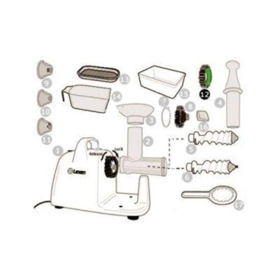Leszorító gyűrű Lexen elektromos búzafűpréshez (12)