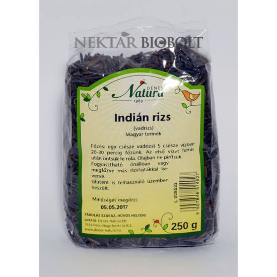 Natura indián rizs /vadrizs/ 250 g