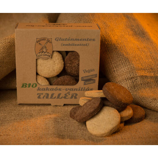 Piszkei bio gluténmentes kakaós-vaníliás tallér 150g