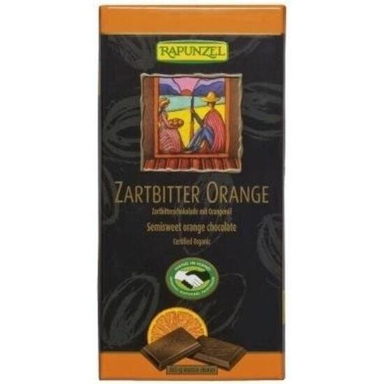Rapunzel bio félédes csoki narancs 80 g