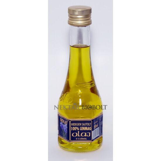 Solio hidegen sajtolt lenmag olaj