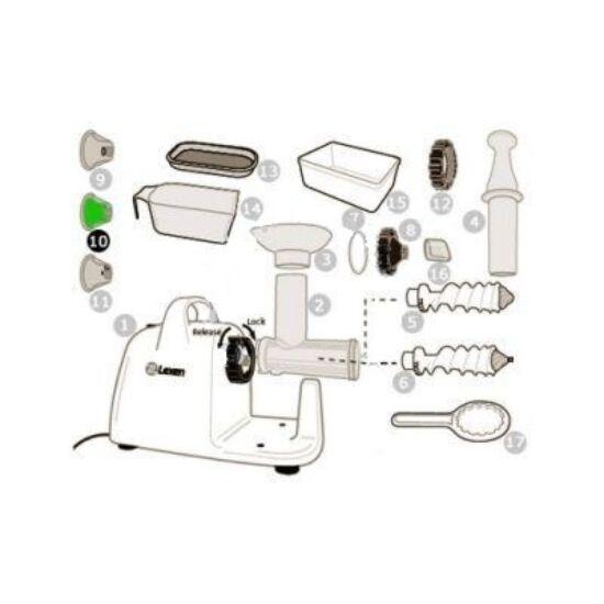 Spagetti tészta adapter Lexen elektromos búzafűpréshez (10)