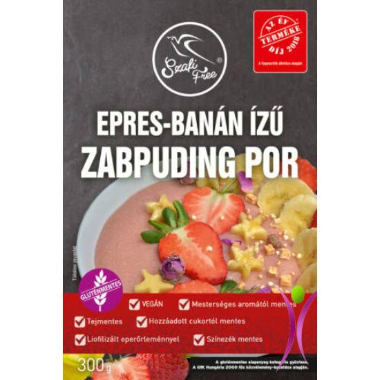 Szafi free epres, banán ízű zabpuding por 300 g