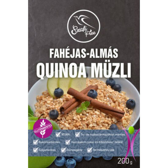 Szafi Free Fahéjas-Almás Quinoa gluténmentes müzli 200g