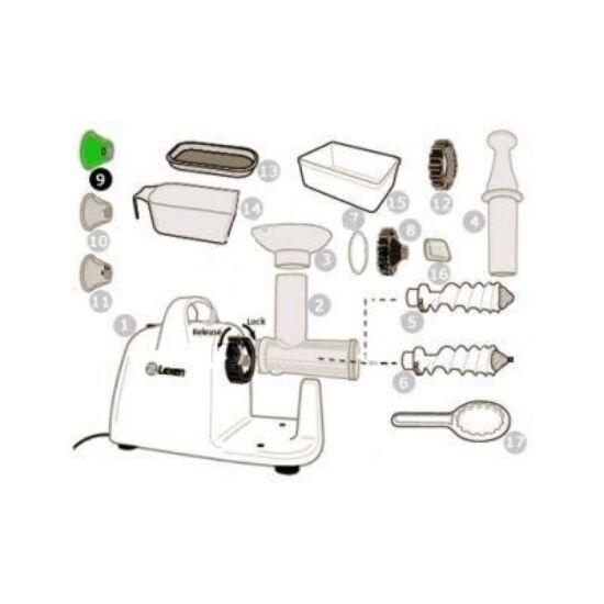 Szarvacska tészta adapter Lexen elektromos búzafűpréshez (9)