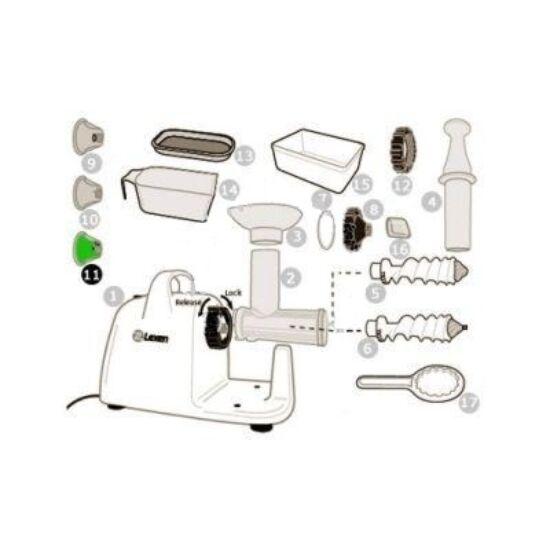 Szélesmetélti tészta adapter Lexen elektromos búzafűpréshez (11)
