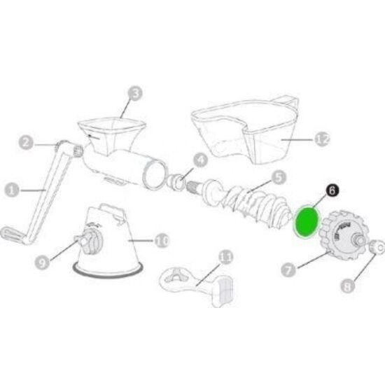 Szilikon tömítőgyűrű előre lexen kézi búzafűpréshez (6)