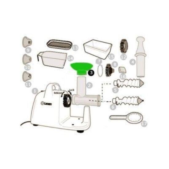 TölcsérLexen elektromos búzafűpréshez (3)