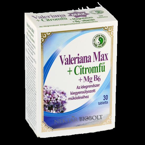 Valeriana max + citromfű + mgb6