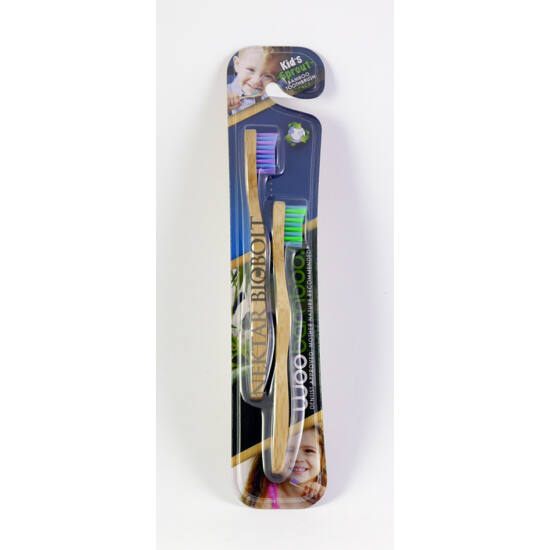 Woobamboo bambusz fogkefe gyerek 2 db