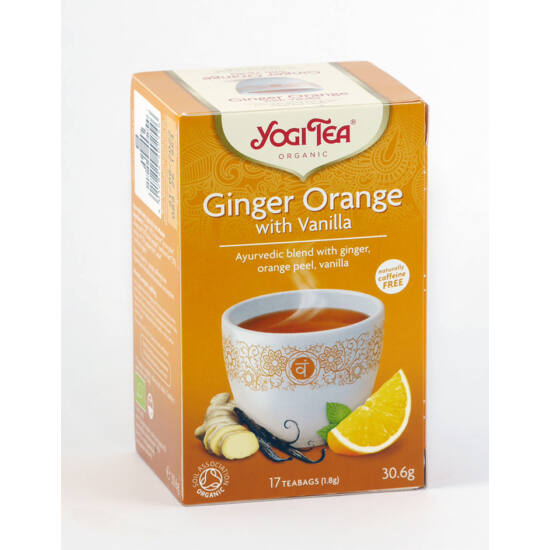 Yogi bio narancsos gyömbér tea 17 db