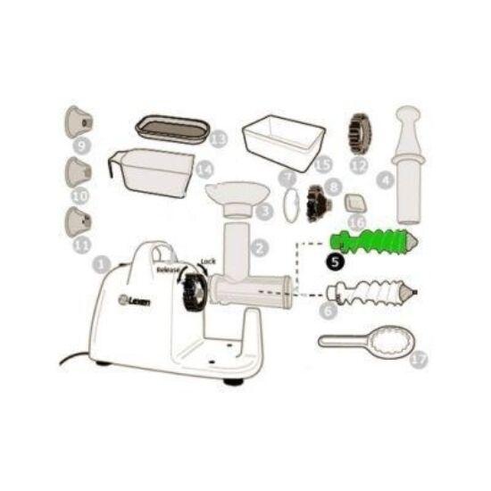 Zöld spirál búzafűhöz lexen elektromos búzafűpréshez (5)